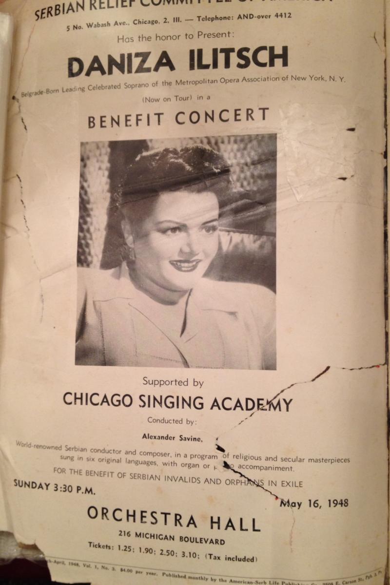 Danica Illich.Relief Banquet in Pittsburgh, 1948