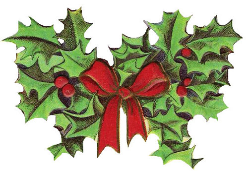 free xmas clipart holly - photo #41